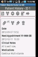 Screenshot of Patient Records Doctor ON GO
