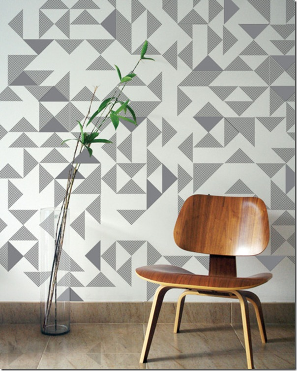 case e interni - tendenza decorazione  triangoli - Triangles 4