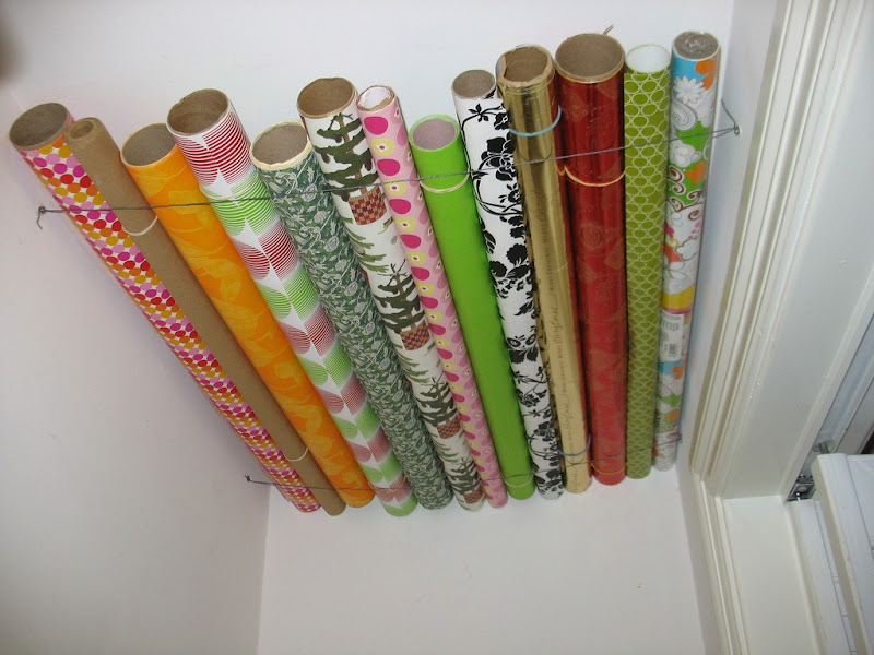 use wires for gift wraps storage