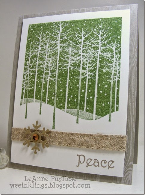 LeAnne Pugliese WeeInklings Merry Monday 116 Peace Christmas Stampin