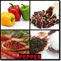 PEPPER- 4 Pics 1 Word Answers 3 Letters
