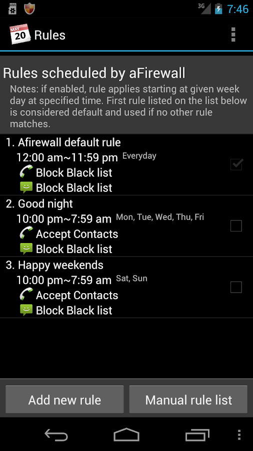 Call & Message blocker - screenshot