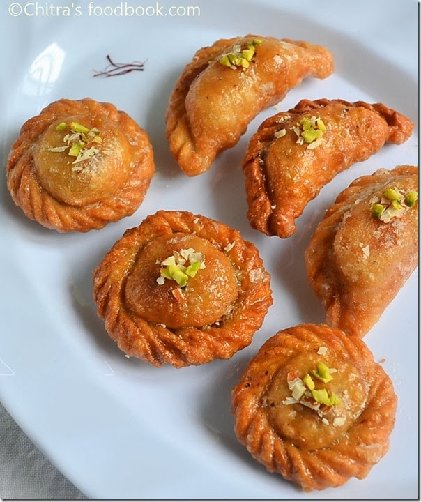suryakala,chandrakala sweet recipe