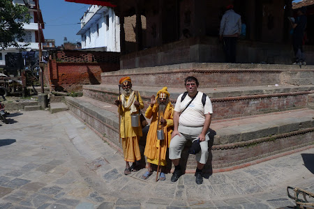 Oameni sfinti Nepal: sadhu in Durbar Square Kathmandu