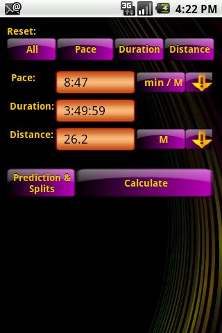 Pace Calculator 2.2 - screenshot