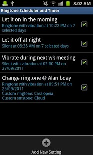 Ringtone Scheduler Free- screenshot thumbnail