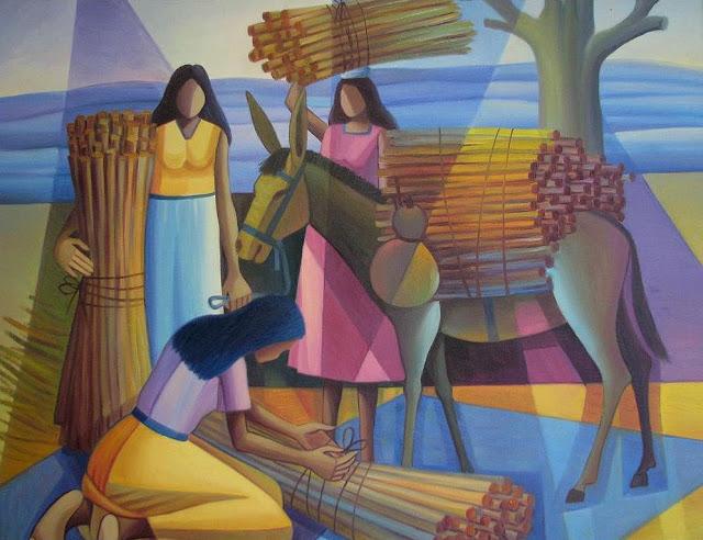 Jurandi Assis - 7 Mujeres en el campo.jpg