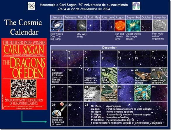 calendario cosmico carl sagan