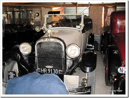 1925 Dodge which was taken to Africa for a vintage car rally. The red 1929 Dodge has been across the Nullabor.