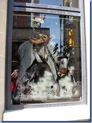 9881 Alberta Calgary Historic Stephen Avenue pedestrian mall - one of many Stampede window paintings