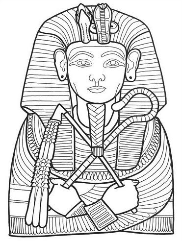 Pharaoh coloring page for Pharaoh coloring pages