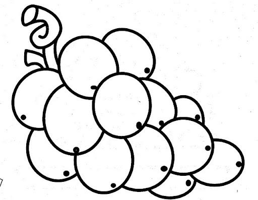 Dibujos Para Colorear De Uvas Infantiles Imagui