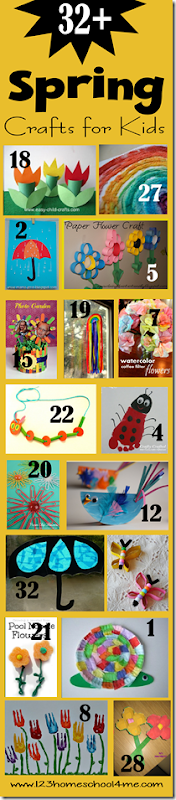 32+ Spring Crafts for Kids - flowers, rainbows, bugs, butterflies and more!
