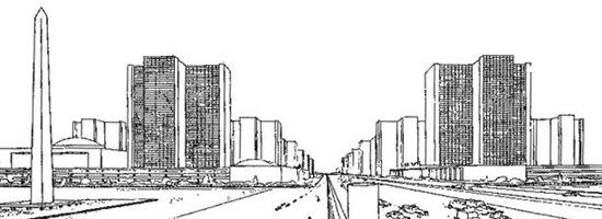 Grattacieli (dis. Le Corbusier da Architettura 1925)
