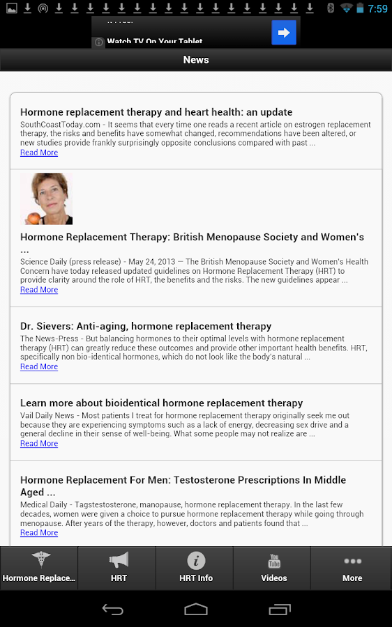 Hormone Replacement Therapy - screenshot