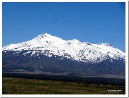 Mt Ruapehu on a beautifully clear day.