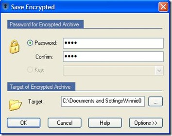 Sophos Free Encryption settare password per la criptazione di file e cartelle