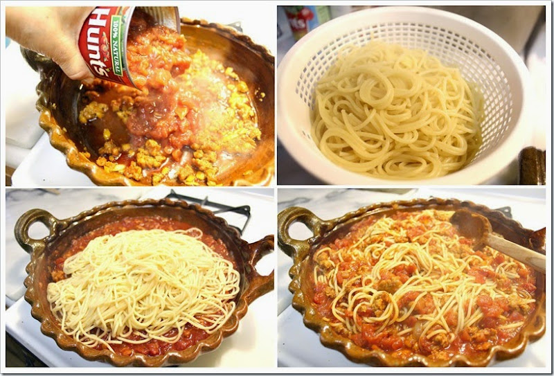 Pasta with Chorizo and Tomato Sauce   Instructions step by step, quick and easy
