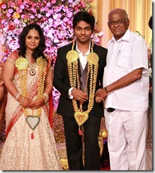 SP Muthuraman at GV Prakash Kumar & Saindhavi Wedding Reception Photos