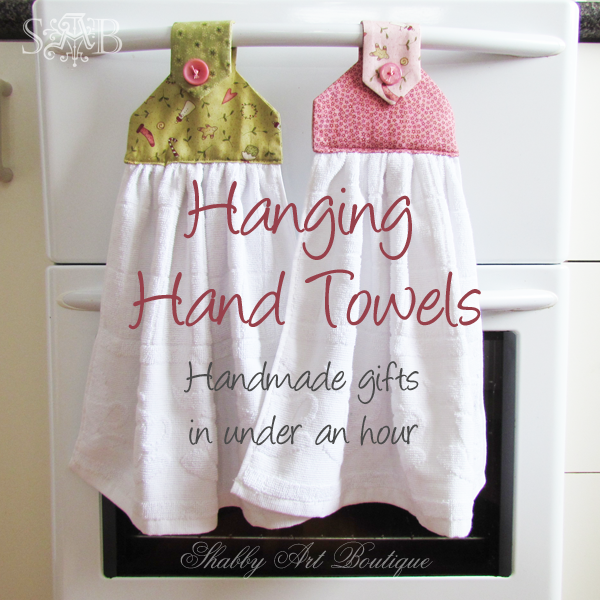 Handmade Gifts Hanging Hand Towels Shabby Art Boutique