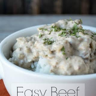 Easy Beef Stroganoff.