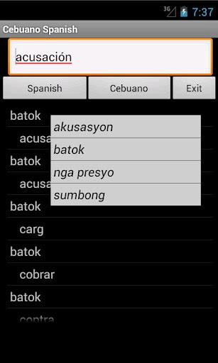 Cebuano Spanish Dictionary