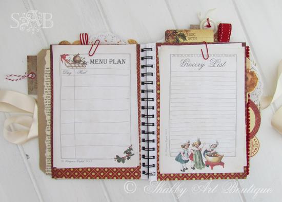 Shabby Art Boutique Christmas Planner 3