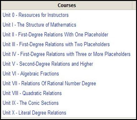 VTA Course Selection