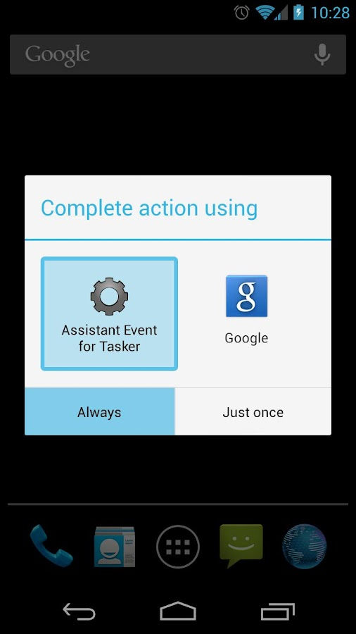 Assistant Event for Tasker – Capture d'écran