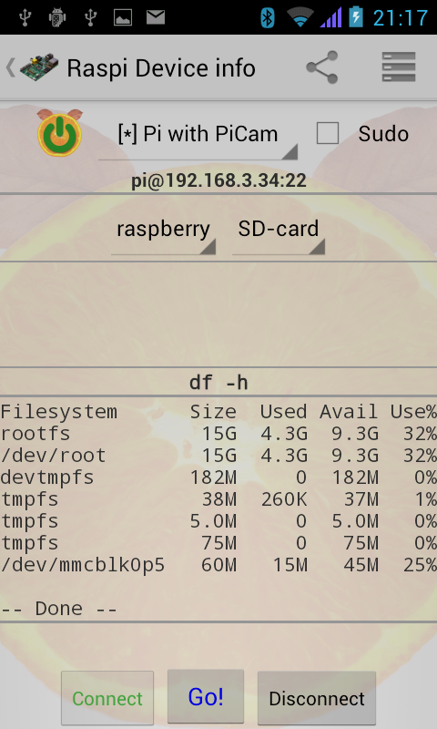 Raspi-R- screenshot