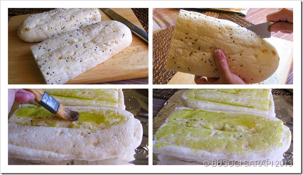 TOASTED TURKISH BREAD WITH SPINACH, FETA & MELTED CHEESE STEP9-12© BUSOG! SARAP! 2013
