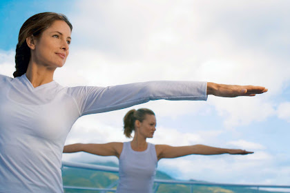 Start your morning with Canyon Ranch SpaClub's energizing yoga class during your cruise on Regent Seven Seas.