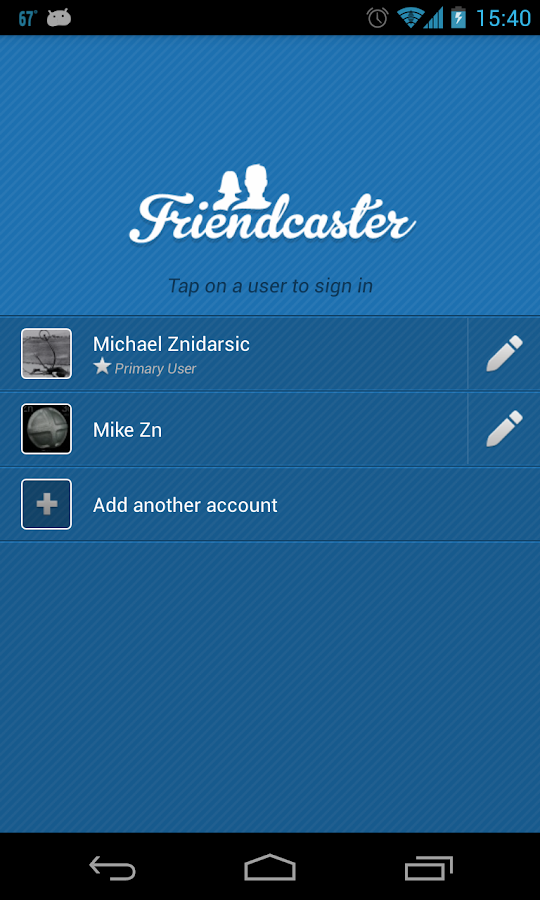 FriendCaster for Facebook - screenshot