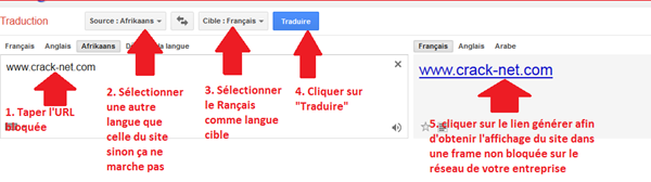 google traduction proxy