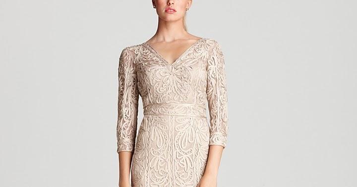 My Dresses Sue Wong Lace Dress Three Quarter Sleeve V