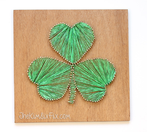 String and nail shamrock