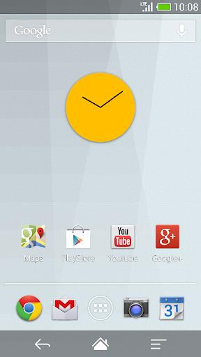 Flat design clock Y -MeClock