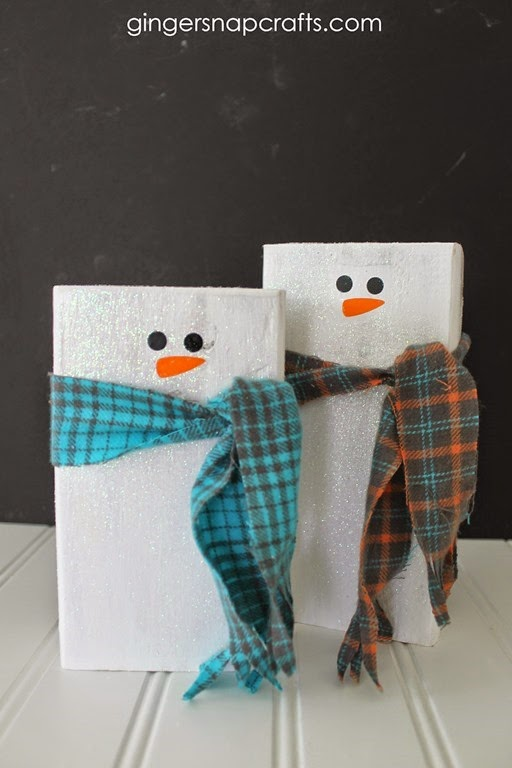 snowmen tutorial at GingerSnapCrafts.com