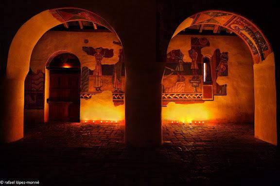Pintures murals romaniques de l'esglesia  de Sant Joan de Boi.Patrimoni Mundial (Unesco). Els originals es troben al MNAC (Barcelona)La Vall de Boi, Alta Ribagorca, Lleida