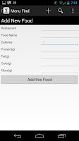 Screenshot of IIFYM Menu Find