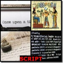 SCRIPT- 4 Pics 1 Word Answers 3 Letters