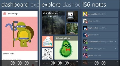 Tumblr para Windows Phone 8