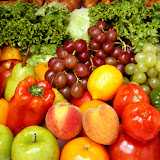 Delicious fesh fruits and vegetables for a healthy and balanced diet