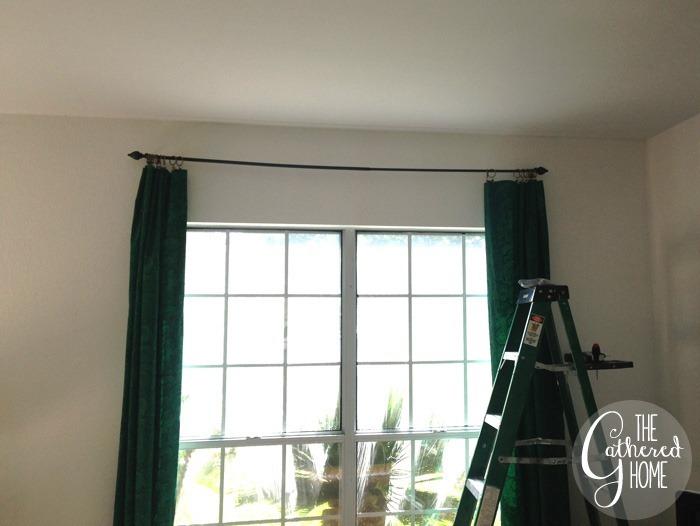 too small curtain rod