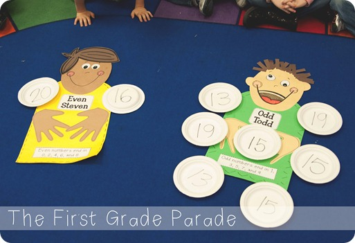 Number Names Worksheets odd and even year 2 : The First Grade Parade: Odd Todd & Even Steven