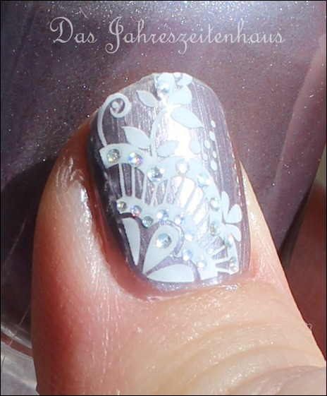 Sally Hansen Pedal to the Metal mit Nail Art 9