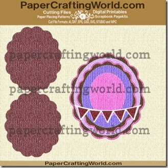 card scalloped oval 429 ppr cf-325