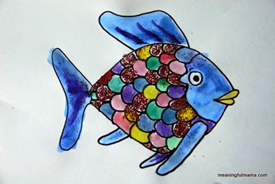 Rainbow Fish Painting from Meaningful Mama