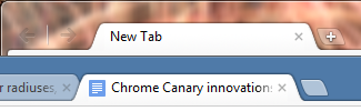 Google Chrome 16 new tab button