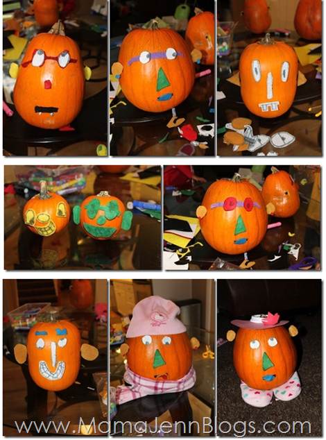 Mr. and Mrs. Pumpkin Head (Potato Head variation)